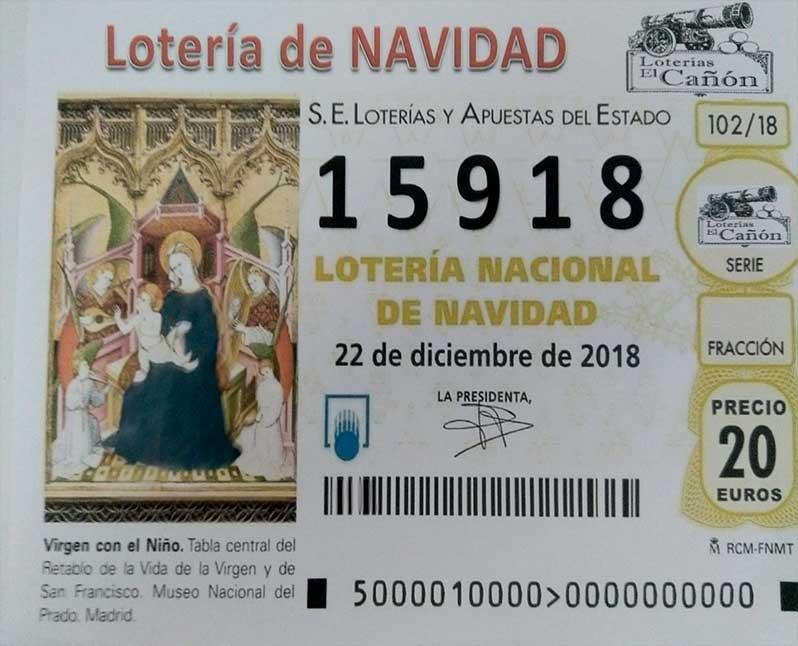 Loteria Navidad Club Diamante de Gould España